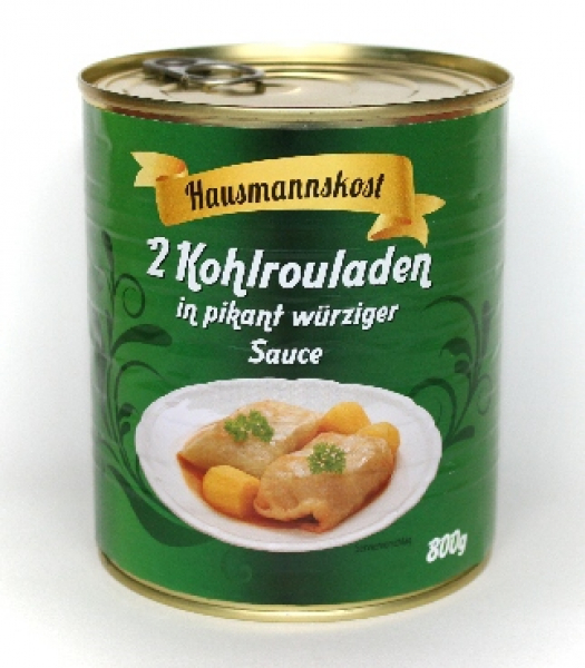 2 Kohlrouladen in pikant würziger Sauce 800g